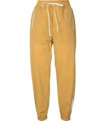 3.1 phillip lim airy track pants - gold