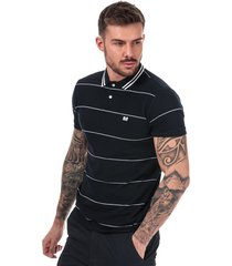 mens milano fine striped polo shirt