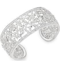 adriana orsini women's crystal floral cuff bracelet