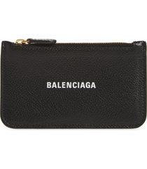 women's balenciaga cash long leather card case -