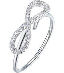 anillo infinito ajustable plata plateado vanité