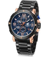 reloj de hombre t5 pulso acero h3640g-e - negro/azul