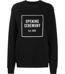 opening ceremony box logo slim-fit sweatshirt - black