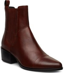 marja shoes boots ankle boots ankle boots with heel brun vagabond