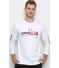 camiseta all free carnaby street manga longa masculina