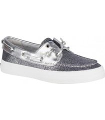 zapatilla crest resort glitter plateado sperry