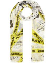'no end' graphic slogan print silk-blend scarf