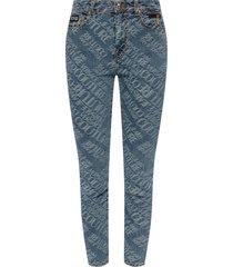 -logo geborduurd jeans