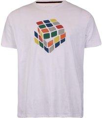 camiseta khelf cubo mágico branco
