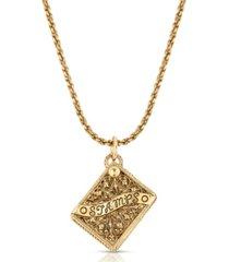 2028 stampholder locket pendant necklace