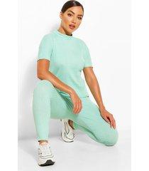 bandage boxy t-shirt & jogger set, sage
