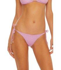 women's isabella rose marseille bikini bottoms, size large - pink