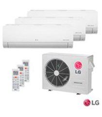 ar condicionado multi split inverter lg com 3 x 8.500 btus, quente e frio, turbo, branco - a3uw24gfa2