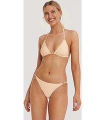 na-kd swimwear detail thin strap bikini brief - orange
