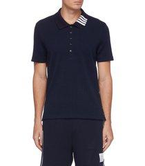 bar stripe collar polo shirt