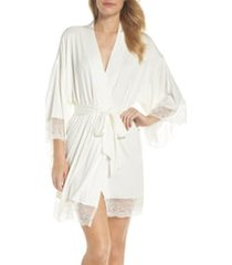 women's homebodii serafina robe, size large - ivory