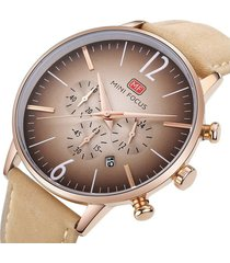 reloj análogo mf0114gl-2 hombre beige