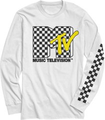 fifth sun men's retro checkered logo long sleeve t- shirt