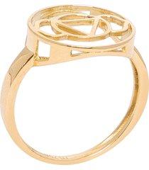 anel chacra ajna em ouro