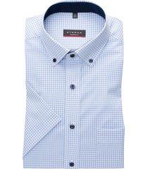 eterna shirt modern fit lichtblauw geruit