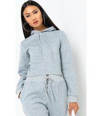 akira paxton sicily lace up sweatshirt