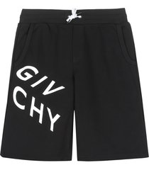 givenchy logo print track shorts