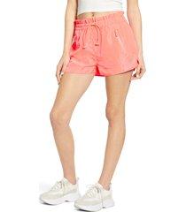women's blanknyc paperbag waist nylon shorts