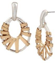 robert lee morris soho wrapped gypsy hoop earrings