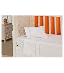 jogo de cama baby plumasul classic sianinha algodão 3 peças branco
