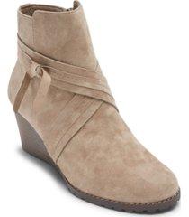 rockport women's hollis x-strap wedge booties women's shoes