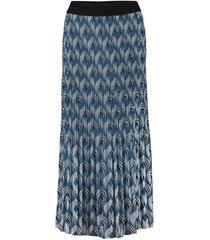 jurk plissé blauw