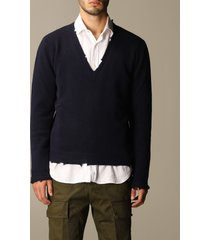 grifoni sweater grifoni v-neck pullover in virgin wool
