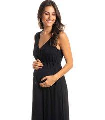 camisola maternidade longa carol