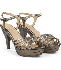 sandalia de tiras cuero bronce versilia sorany