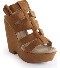calzado dama tacon plataforma 5 1/2 miel 742b06miel