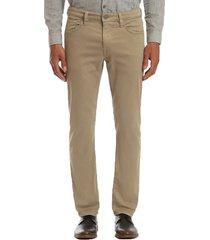men's 34 heritage courage straight leg pants, size 31 x 32 - brown