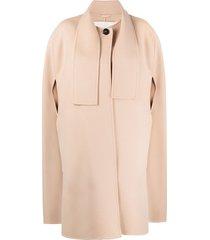 jil sander neck strap cape coat - neutrals