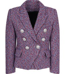 balmain multicolor lurex girl jacket