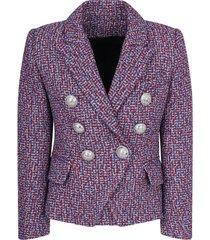 balmain multicolor lurex jacket for girl
