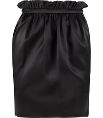 versace gathered skirt