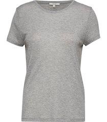 upama rib top t-shirts & tops short-sleeved grijs dagmar