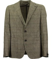 prince of wales jacket in wool, silk and cashmere