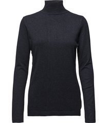 lana roll neck knit turtleneck polotröja blå minus