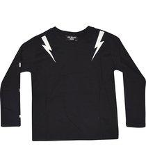 neil barrett lightning detail sweatshirt