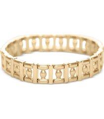 lucky brand gold-tone geometric link stretch bracelet