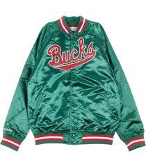 milbuc nba lightweight satin bomber jacket