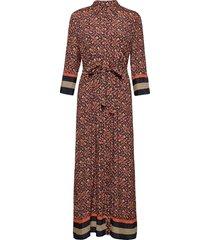 dresses light woven maxi dress galajurk bruin esprit collection