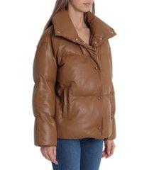 avec les filles faux-leather puffer coat