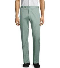 saks fifth avenue men's stretch-cotton dress pants - pistachio - size 42 r