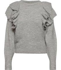 enspring ls knit 5236 stickad tröja grå envii